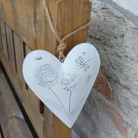 Srdce- kovové s vážkou
